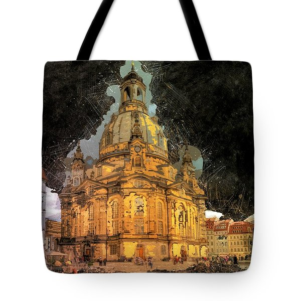 Cathedral, Dresden Tote Bag