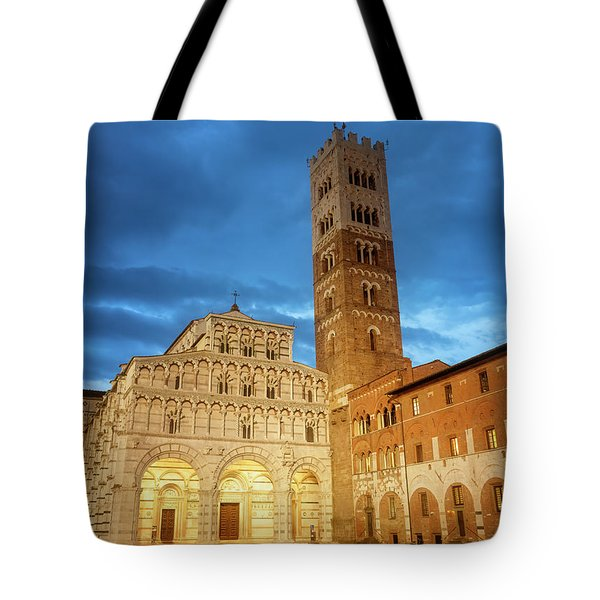 Cathedral Lucca Italy Tote Bag