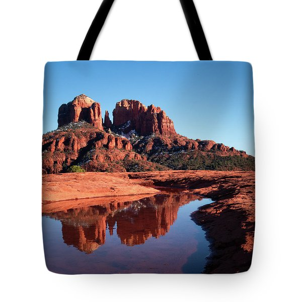 Cathedral Rock Reflection II Tote Bag