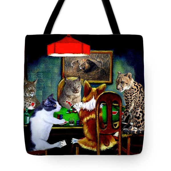 Cats Are Wild Poker Tote Bag