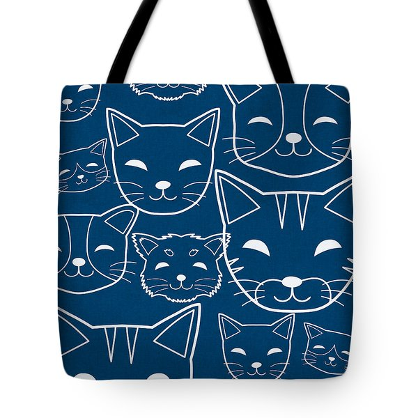 Cats- Art By Linda Woods Tote Bag