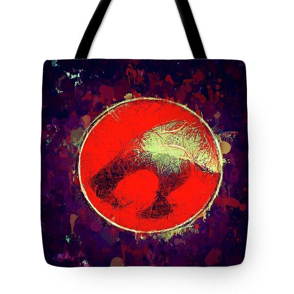 Tote Bag featuring the mixed media Thundercats Logo by Al Matra