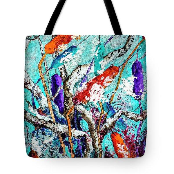 Cattail Splash Tote Bag