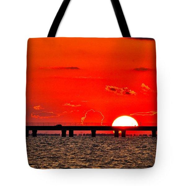 Causeway Sunset Tote Bag