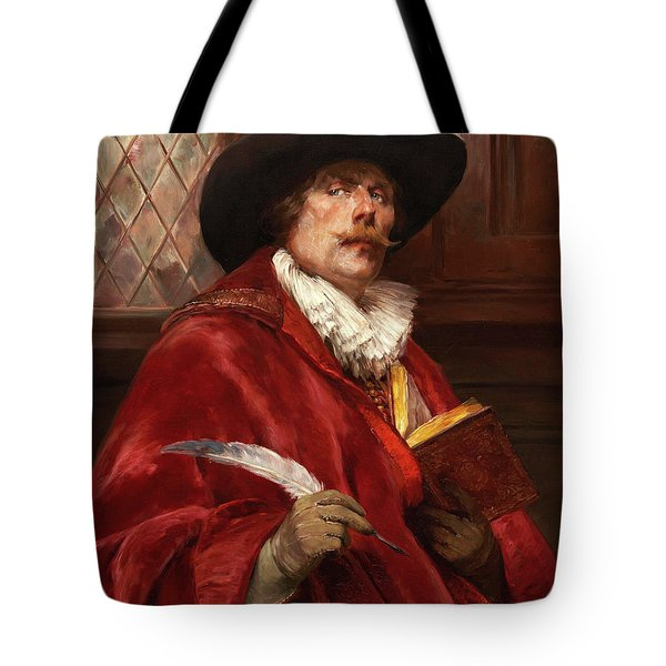 Cavalier Writing In A Book Tote Bag
