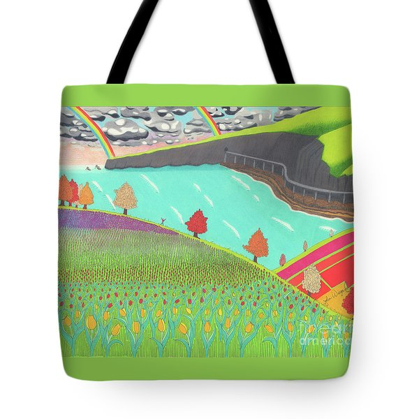 Tote Bag featuring the drawing Celebration by John Wiegand