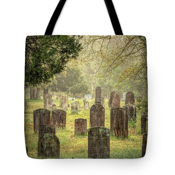 Tote Bag featuring the photograph Cemetery In The Pines by Kristia Adams