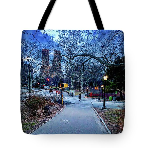 Central Park At Night, New York, New York Tote Bag