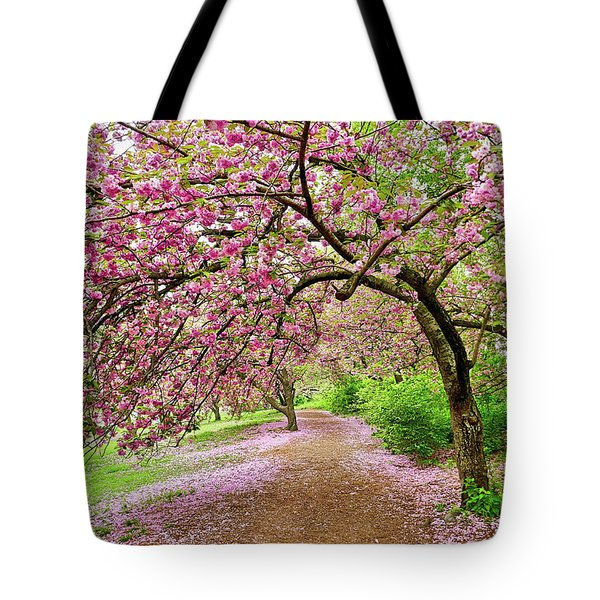 Central Park Cherry Blossoms Tote Bag
