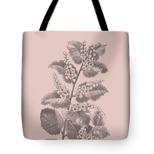 Blush Pink Ampoules Leaf Tote Bag