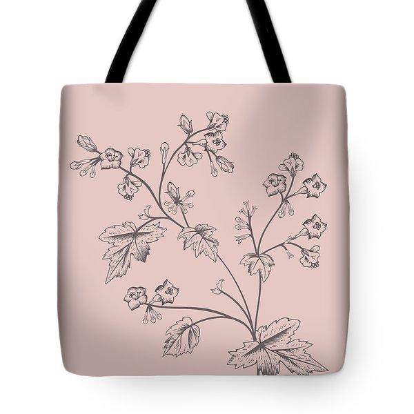 Blush Pink Tropical Leaf II Tote Bag