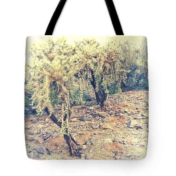 Chain Fruit Cholla Tote Bag