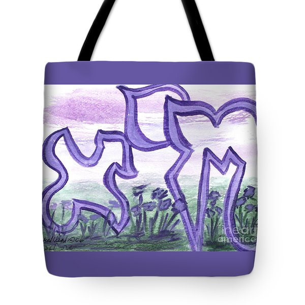 Tote Bag featuring the painting Chaiya Nf22-37 by Hebrewletters Sl