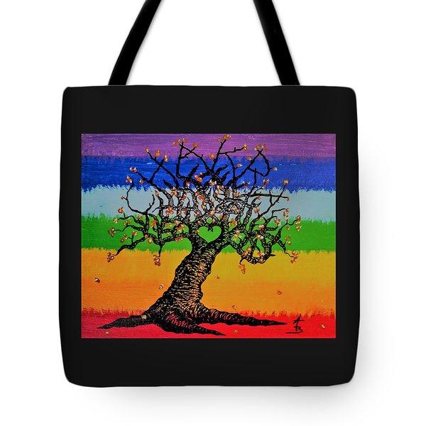 Chakra Love Tree Tote Bag