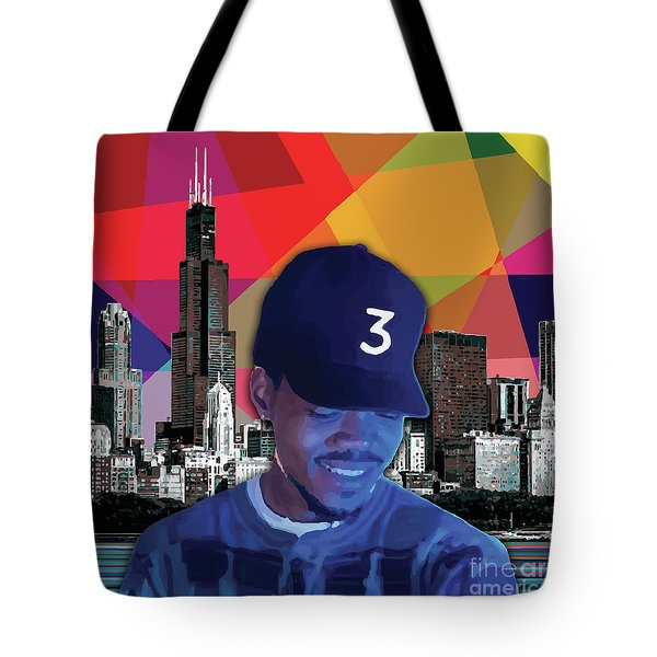 Tote Bag featuring the painting Chance Chicago by Carla B