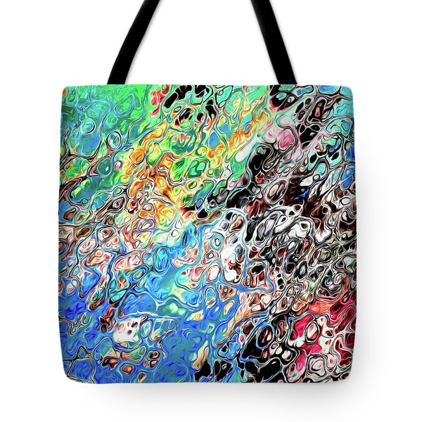 Chaos Abstraction Bright Tote Bag