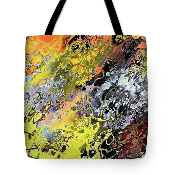 Chaos Abstraction Orange Tote Bag