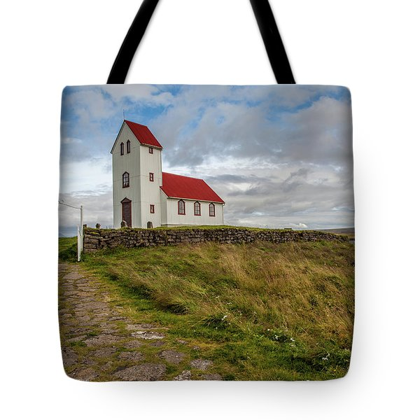 Tote Bag featuring the photograph Chapel Of Iceland by David Letts