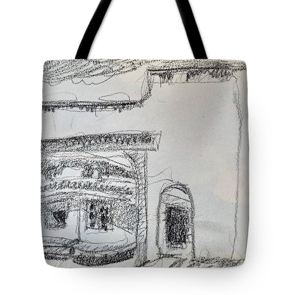 Charcoal Pencil Arch.jpg Tote Bag