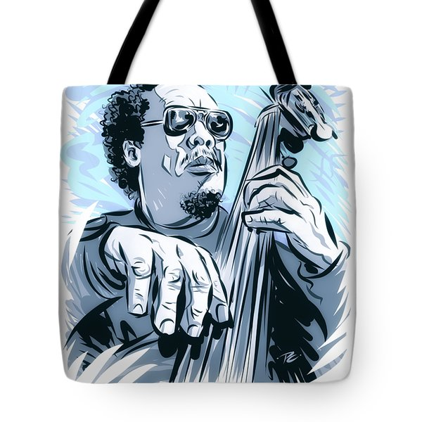 Charles Mingus - An Illustration By Paul Cemmick Tote Bag
