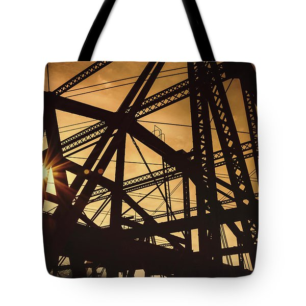 Charlestown Bridge Boston Massachusetts Tote Bag