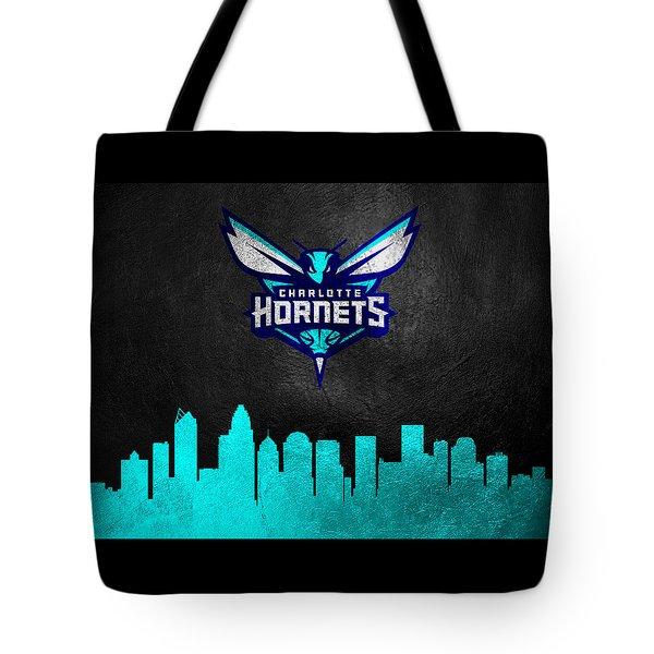 Charlotte Hornets Skyline Tote Bag