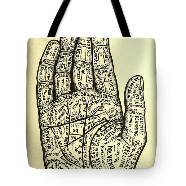 Chart Of The Hand Tote Bag