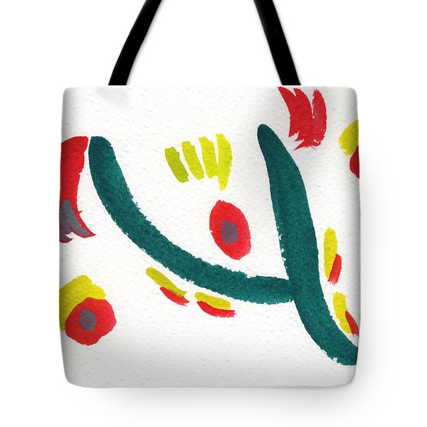 Tote Bag featuring the painting Chasing by Bee-Bee Deigner