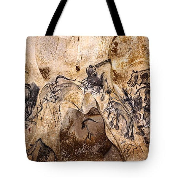 Chauvet Lions And Rhinos Tote Bag
