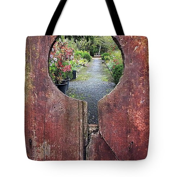 Tote Bag featuring the painting Check In Here by Val Byrne