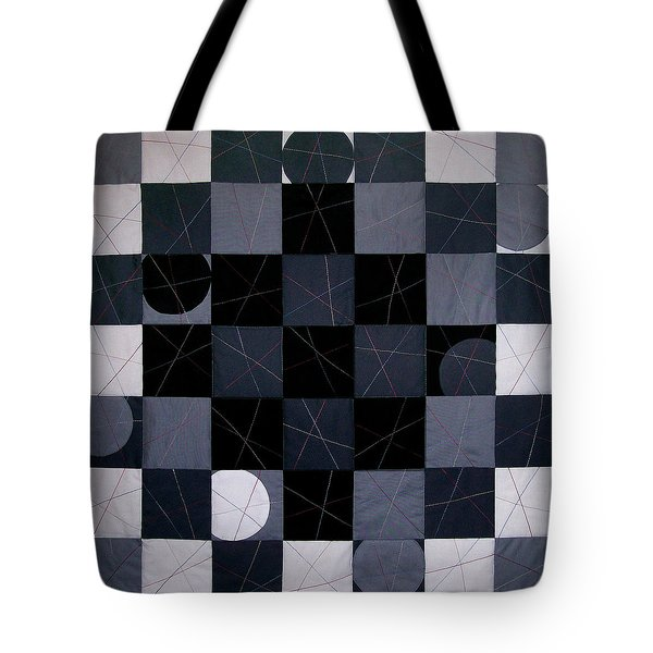 Checkerboard And Pick-up-sticks Tote Bag