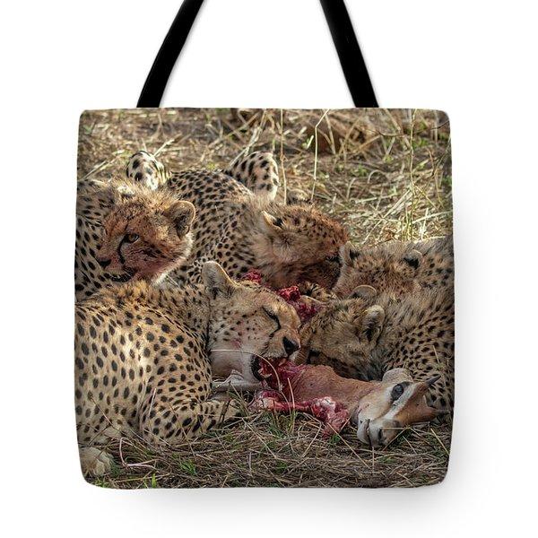 Cheetahs And Grant's Gazelle Tote Bag