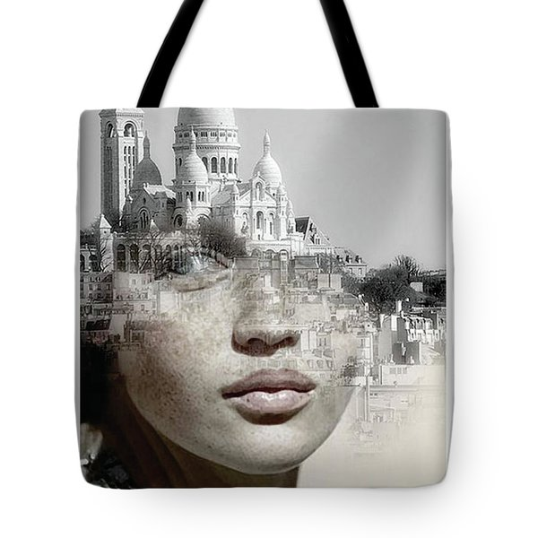 Cherishing White Buildings Tote Bag