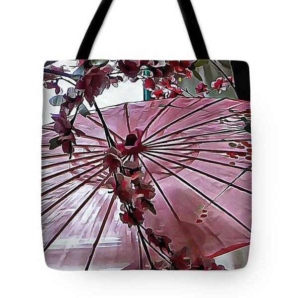 Tote Bag featuring the photograph Cherry Blossom Dreams by Dorothy Berry-Lound