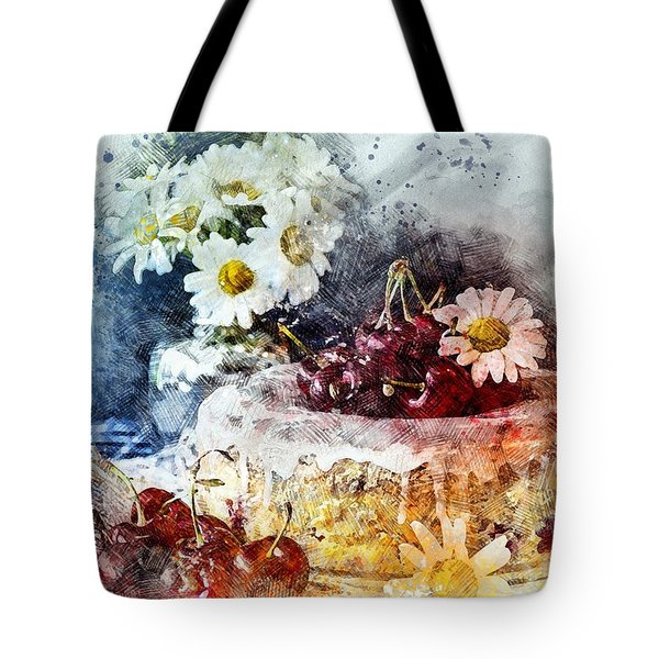 Cherry Blossoms Cakes Tote Bag