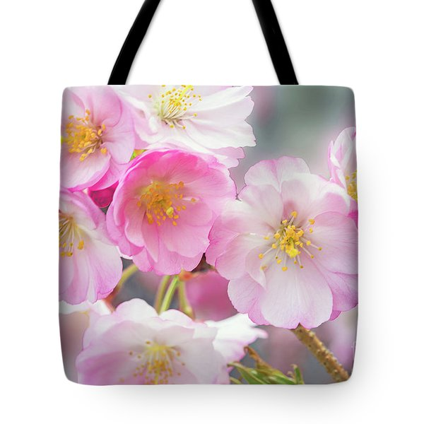 Cherry Blossoms Pink On Pink Tote Bag