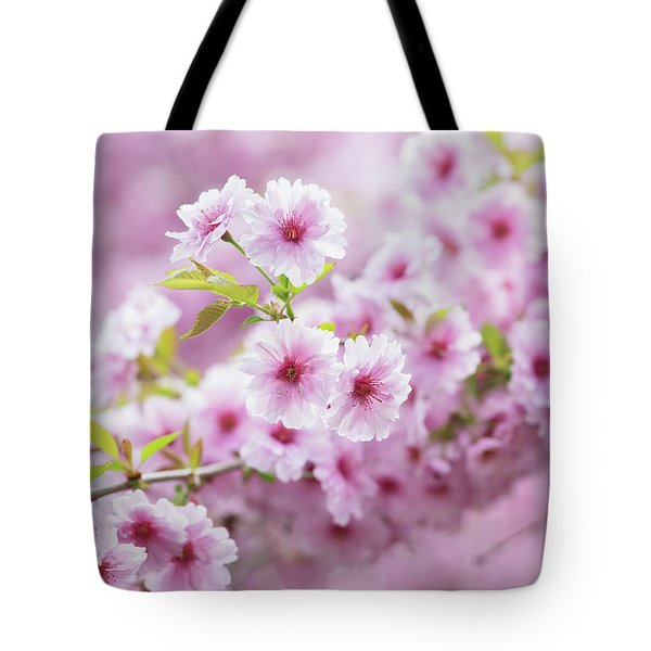 Cherry Tree Pink Ballerina Tote Bag
