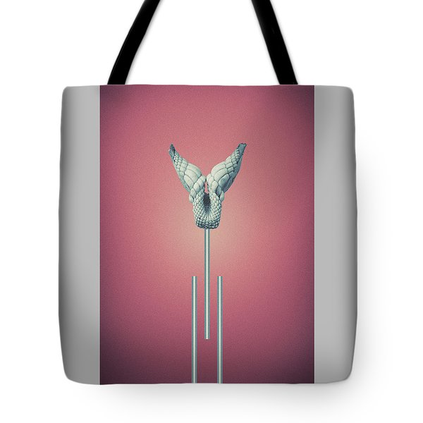 Cherry Vitium - Abstract Geometric Bone Art Tote Bag