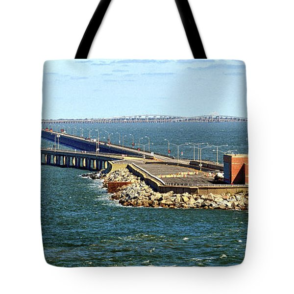 Tote Bag featuring the photograph Chesapeake Bay Bridge Tunnel E S V A by Bill Swartwout Fine Art Photography