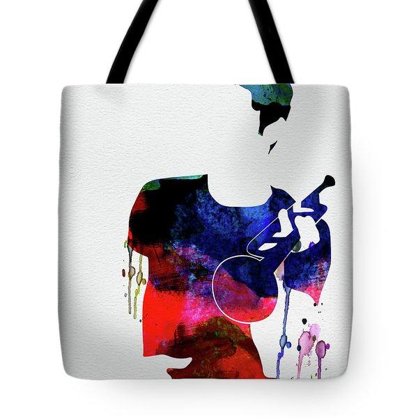 Chet Baker Watercolor Tote Bag