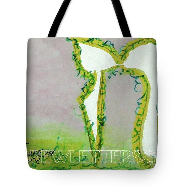 Tote Bag featuring the painting Gentle Chet Ch1 by Hebrewletters Sl