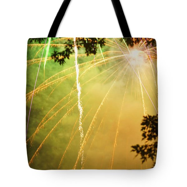 Yellow Fireworks Tote Bag