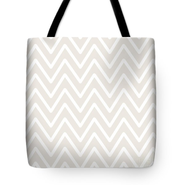 Chevron Wave Gardenia Tote Bag