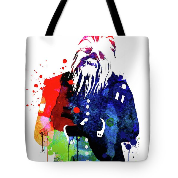 Chewbacca In A Suite Watercolor Tote Bag