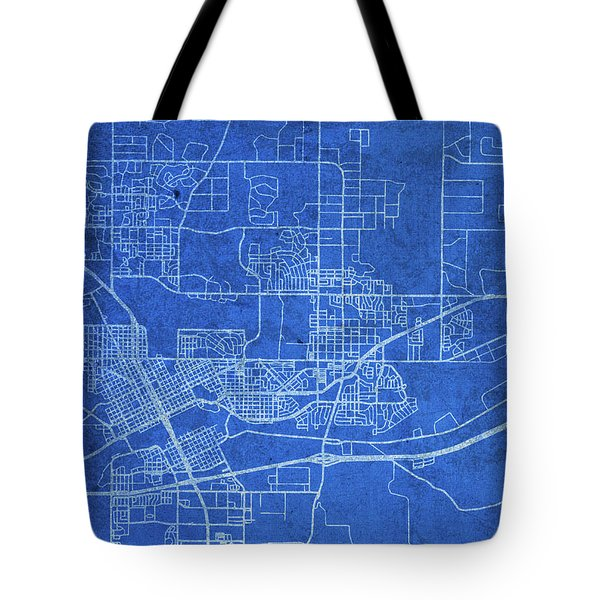 Cheyenne Wyoming City Street Map Blueprints Tote Bag