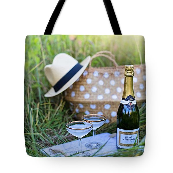 Tote Bag featuring the photograph Chic Picnic by Top Wallpapers