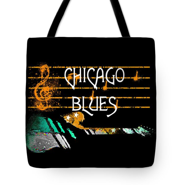 Chicago Blues Music Tote Bag
