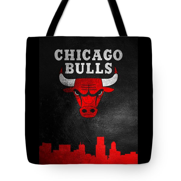 Chicago Bulls Skyline Tote Bag