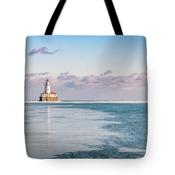 Chicago Harbor Light Landscape Tote Bag