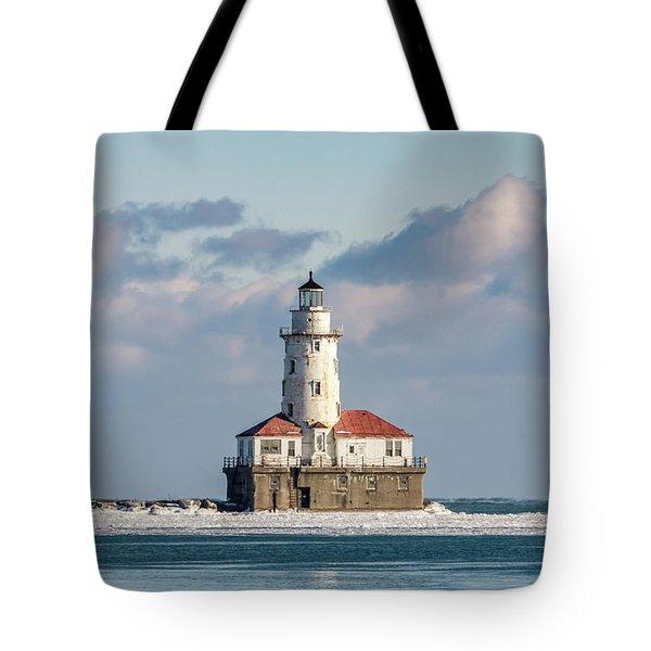Chicago Harbour Light Tote Bag